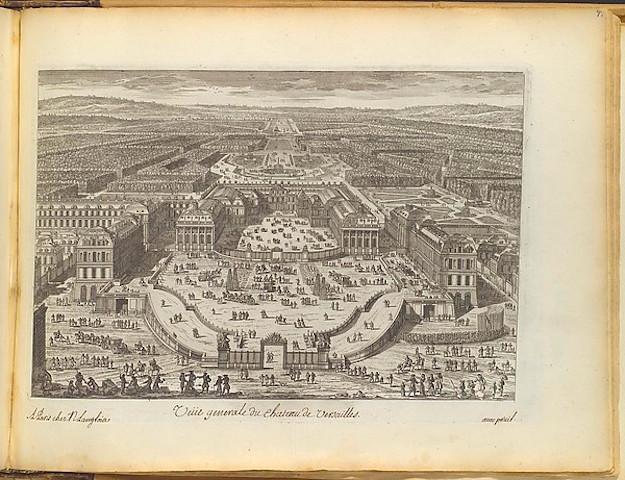 """""""Veüe generale du chateau de Versailles"""" by Adam Perelle (French, Paris 1640–1695 Paris), Published by Nicolas Langlois (French, Paris 1640–1703) , Paris via The Metropolitan Museum of Art is licensed under CC0 1.0"""