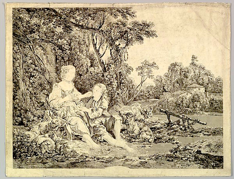 """""""Pensant-ils au Raisin? (Are They Thinking About the Grape?)"""" by Jacques Philippe Le Bas (French, Paris 1707–1783 Paris), After François Boucher (French, Paris 1703–1770 Paris) via The Metropolitan Museum of Art is licensed under CC0 1.0"""