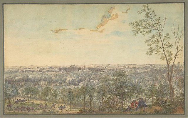 """""""Versailles Seen from the Southwest"""" by Louis Nicolas de Lespinasse, called the Chevalier de Lespinasse (French, Pouilly-sur-Loire 1734–1808 Paris), Formerly attributed to Anonymous, French, 18th century via The Metropolitan Museum of Art is licensed under CC0 1.0"""
