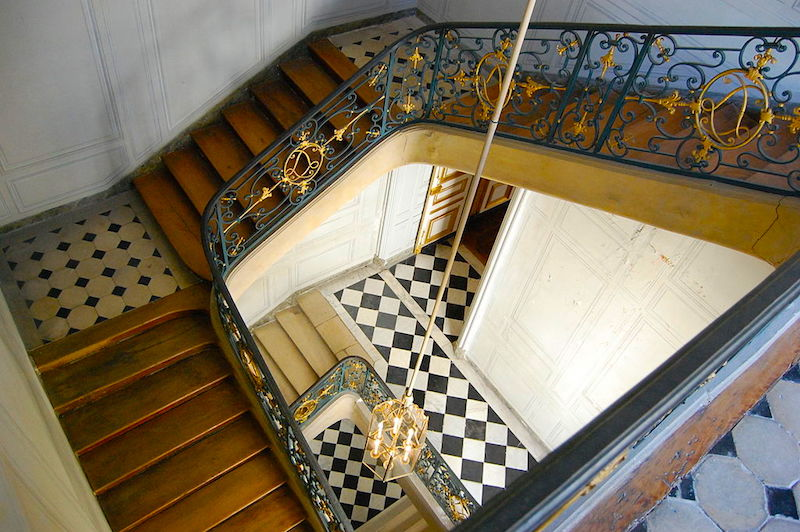 The private staircase.  Credit: Par Trizek — Travail personnel, CC BY-SA 3.0, https://commons.wikimedia.org/w/index.php?curid=15126690
