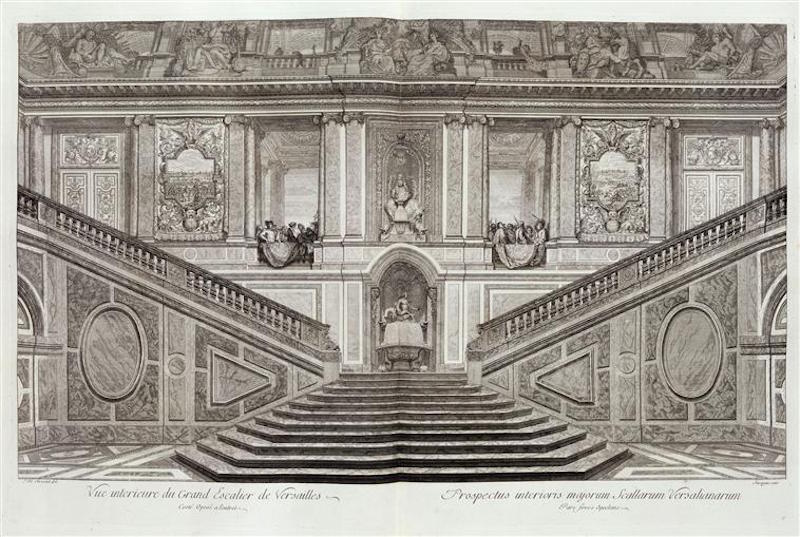 Engraving of the Ambassadors' Staircase.  Credit: Wikipedia.
