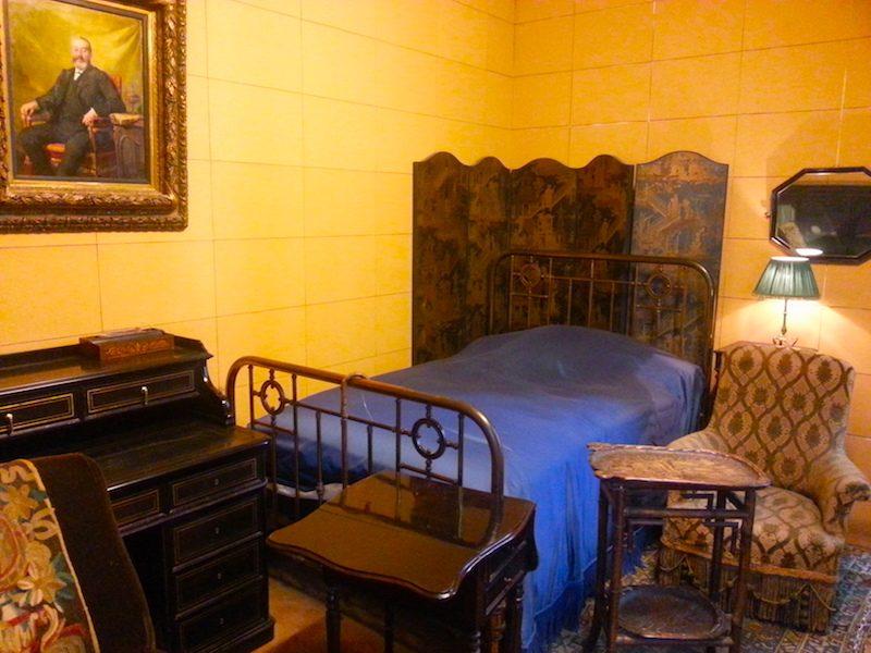 Proust's bedroom furniture in the Musée Carnavalet, Paris.
