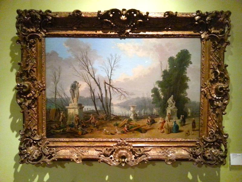 Le Tapis Vert by Hubert Robert, 1775-1777.